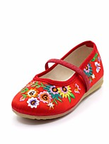 cheap -Girls' Shoes Satin Spring Comfort Flats for Kids Peach / Red / Pink
