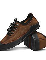 Недорогие -Муж. обувь Кожа Весна Удобная обувь Кеды Черный / Коричневый