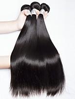 cheap -Brazilian Hair Straight Natural Color Hair Weaves / Human Hair Extensions 4 Bundles 8-28 inch Human Hair Weaves Capless Odor Free / Fashionable Design / Best Quality Natural Black Human Hair