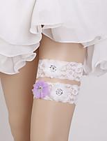 baratos -Renda Estiloso / Estilo Clássico Wedding Garter  -  Floral Ligas Casamento / Ocasião Especial