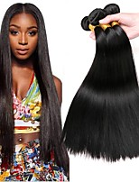 cheap -Malaysian Hair Straight Natural Color Hair Weaves / Extension 3 Bundles 8-28 inch Human Hair Weaves Machine Made Classic / Natural / Best Quality Natural Black Human Hair Extensions Unisex