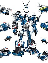 cheap -Building Blocks 577 pcs Car / Robot / Airplane Transformable Gift