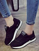 abordables -Mujer Zapatos PU Otoño Confort Zapatillas de deporte Tacón Plano Negro / Gris / Rosa