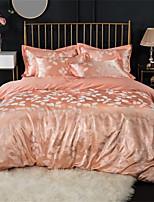 cheap -Duvet Cover Sets Luxury 100% Cotton / Silk / Cotton Blend / Cotton Jacquard Printed & Jacquard 4 Piece