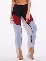 cheap -Women's Daily Sporty / Basic Legging - Color Block Mid Waist