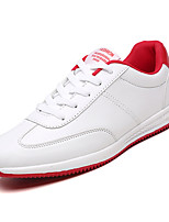cheap -Men's PU(Polyurethane) Spring &  Fall Comfort Sneakers White / Red / Black / White