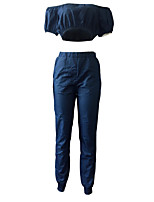 cheap -Women's Set - Solid Colored Pant