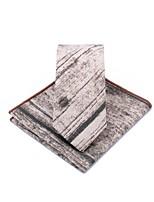 cheap -Unisex Party / Work Necktie - Color Block Black & Gray