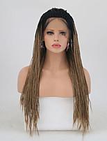 Недорогие -Синтетические кружевные передние парики Матовое стекло Золотистый тесьма Искусственные волосы Природные волосы Золотистый Парик Жен. Длинные Лента спереди / Да