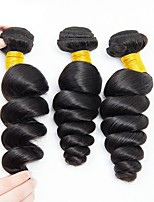 abordables -3 offres groupées Cheveux Péruviens Ondulé Cheveux humains Tissages de cheveux humains / Extensions Naturelles 8-28 pouce Couleur naturelle Tissages de cheveux humains Sans bonnet Design Tendance