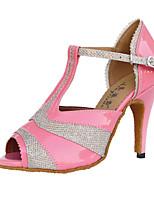 economico -Per donna Scarpe per balli latini Pelle Tacchi Tacco alto sottile Scarpe da ballo Nero / Rosa