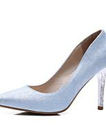 abordables -Femme Chaussures Polyuréthane Printemps été Escarpin Basique Chaussures à Talons Talon Aiguille Bout pointu Argent / Violet / Bleu