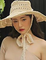 Недорогие -Жен. Классический / Праздник Соломенная шляпа Однотонный / Лето
