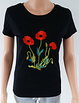 abordables -Mujer Noche / Playa Camiseta Floral