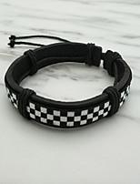 abordables -Homme Chaîne unique Bracelets en cuir - Punk, Hip-Hop Bracelet Noir Pour Quotidien / Plein Air