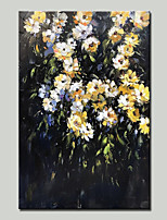 cheap -Oil Painting Hand Painted - Landscape / Floral / Botanical Traditional Canvas