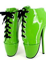 abordables -Mujer Zapatos PU Primavera verano Innovador Tacones Tacón Stiletto Dedo redondo Hebilla Verde / Azul / Rosa / Fiesta y Noche