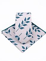 cheap -Unisex Party / Work Necktie - Print Tropical Leaf