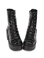abordables -Chaussures Gothique / Punk Punk / Gothique Creepers Chaussures Couleur Pleine 8 cm CM Noir Pour PU