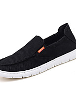 cheap -Men's Shoes Tulle Summer Moccasin Loafers & Slip-Ons White / Black / Khaki