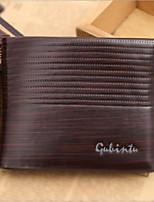 cheap -Men's Bags PU(Polyurethane) Wallet Zipper Blue / Coffee / Brown