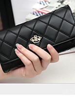 cheap -Women's Bags PU(Polyurethane) Wallet Zipper Fuchsia / Light Purple / Sky Blue