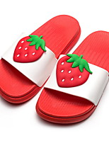 cheap -Women's Slippers Slippers Fruits Pattern PVC(Polyvinyl chloride) solid color