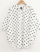 Недорогие -Жен. С принтом Рубашка Классический Горошек