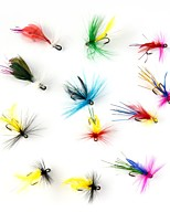 cheap -12 pcs pcs Flies / Fishing Accessories Set Flies Feathers / Carbon Steel Easy to Carry / Light Weight Sea Fishing / Fly Fishing / Bait Casting