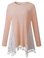 preiswerte -Damen Einfarbig - Grundlegend T-shirt