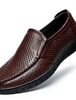 abordables -Homme Chaussures Cuir Eté Confort Mocassins et Chaussons+D6148 Noir / Jaune / Marron / Soirée & Evénement