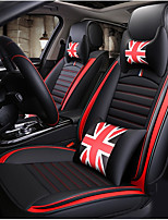 cheap -ODEER Car Seat Cushions Seat Covers Black / Red Artificial Leather Common for universal All years All Models