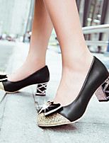 cheap -Women's Shoes PU(Polyurethane) Spring Comfort Heels Chunky Heel Beige / Purple / Pink