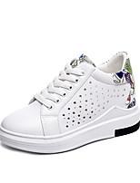 Недорогие -Жен. Обувь Полиуретан Лето Удобная обувь Кеды Микропоры Круглый носок Черный / Красный