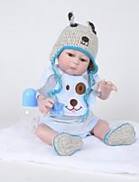 cheap -FeelWind Reborn Doll Baby Boy 20 inch Full Body Silicone - lifelike, Artificial Implantation Brown Eyes Kid's Boys' Gift