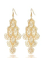 cheap -Women's Drop Earrings - Flower Elegant, Statement, Oversized Gold For Evening Party / Going out