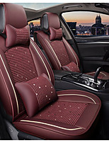 cheap -ODEER Car Seat Cushions Seat Covers Burgundy Textile Common for universal All years All Models
