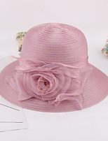 Недорогие -Жен. Активный / Праздник Соломенная шляпа - Оборки Однотонный