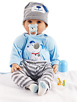 cheap -FeelWind Reborn Doll Baby Boy 22 inch lifelike, Artificial Implantation Blue Eyes Kid's Boys' Gift