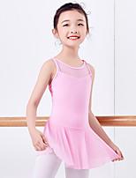abordables -Danse classique Robes Femme Entraînement / Utilisation Coton Combinaison Sans Manches Taille moyenne Robe