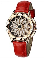 cheap -SHIFENMEI Women's Wrist Watch Japanese New Design / Water Resistant / Water Proof / Creative Genuine Leather Band Luxury / Fashion Black / White / Red