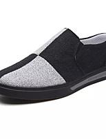 Недорогие -Муж. Полотно Осень Удобная обувь Кеды Контрастных цветов Черный / Оранжевый / Серый