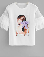 cheap -women's t-shirt - portrait round neck