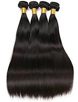 Недорогие -4 Связки Индийские волосы Прямой Необработанные / Натуральные волосы Подарки / Косплей Костюмы / Человека ткет Волосы 8-28 дюймовый Ткет человеческих волос Модный дизайн / Косплей / Новый дизайн