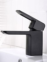 cheap -Bathroom Sink Faucet - Widespread / New Design Black Deck Mounted Single Handle One Hole