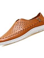 abordables -Homme Chaussures Faux Cuir / Polyuréthane Eté Moccasin Mocassins et Chaussons+D6148 Blanc / Marron / Bleu
