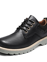 cheap -Men's Novelty Shoes PU(Polyurethane) Spring Comfort Oxfords Gray / Brown / Green