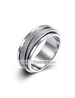 cheap -Men's Double Twine Band Ring - Stainless Vintage, Basic 8 / 9 Silver For Daily / Work
