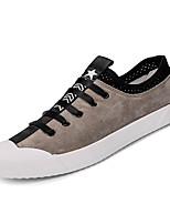 cheap -Men's Cowhide / PU(Polyurethane) Summer Comfort Sneakers Black / Gray