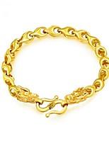 abordables -Homme Bracelet - Plaqué or Dragon Mode Bracelet Or Pour Cadeau / Quotidien